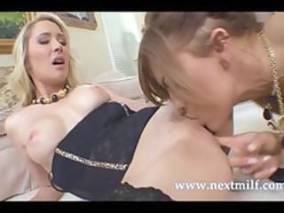 lustful milfs receive down for trio lesbo act