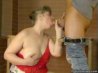 corpulent old older wife can engulfing large