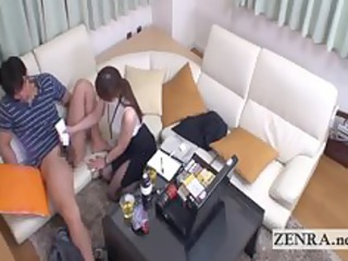 cfnm japan milf uses sex toy to give client a