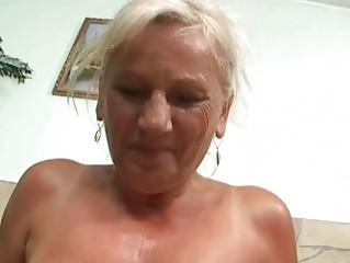 nasty breasty granny in hard pov action