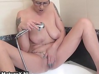 tattooed older housewife playing part8