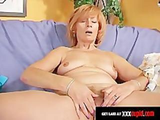 redheaded granny uses a marital-device