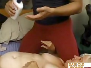 fat aged copulates the massage guy