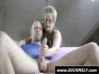 stud acquires caught by blond mother i who