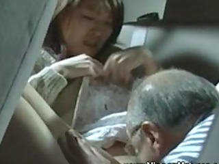aged oriental desires young fur pie on his