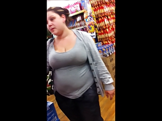 chubby young mum downblouse