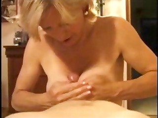 older blonde is experienced in the art of coarse