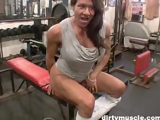 bawdy cleft play in the gym