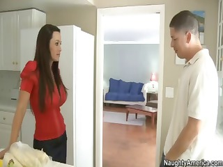 sweet milf lisa ann is a breasty mommy fooled