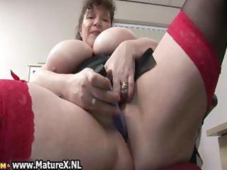 lewd bulky older lady copulates part4