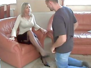 older nylon heels and foot worship 10