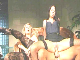 hot threeway in stockings