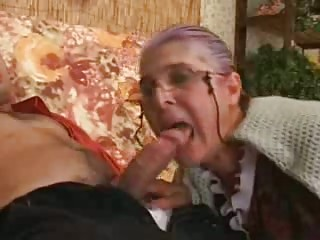 granny becomes mad when dude drills her fleshy